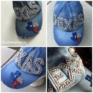 Women's Custom Sequin TEXAS Hat